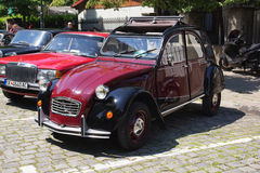 Oldtimer Show Skopje 2016. SKOPJE MACEDONIA - MAY 07 2016: Old Citroen on 11th Old Timer Car Show, May 07, 2016 in Skopje. The event organized by Euroimpex from Royalty Free Stock Photo
