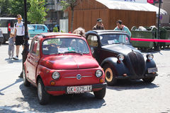 Oldtimer Show Skopje 2016. SKOPJE MACEDONIA - MAY 07 2016: Old Fiat on 11th Old Timer Car Show, May 07, 2016 in Skopje. The event organized by Euroimpex from Stock Photography
