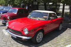 Oldtimer Show Skopje 2016. SKOPJE MACEDONIA - MAY 07 2016: Old Fiat on 11th Old Timer Car Show, May 07, 2016 in Skopje. The event organized by Euroimpex from Royalty Free Stock Images