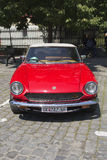 Oldtimer Show Skopje 2016. SKOPJE MACEDONIA - MAY 07 2016: Old Fiat on 11th Old Timer Car Show, May 07, 2016 in Skopje. The event organized by Euroimpex from Stock Images