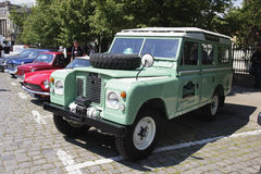 Oldtimer Show Skopje 2016. SKOPJE MACEDONIA - MAY 07 2016: Old Land Rover on 11th Old Timer Car Show, May 07, 2016 in Skopje. The event organized by Euroimpex Royalty Free Stock Image