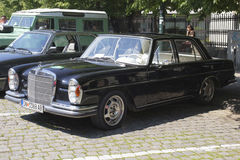 Oldtimer Show Skopje 2016. SKOPJE MACEDONIA - MAY 07 2016: Old Mercedes on 11th Old Timer Car Show, May 07, 2016 in Skopje. The event organized by Euroimpex from Stock Images