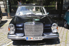 Oldtimer Show Skopje 2016. SKOPJE MACEDONIA - MAY 07 2016: Old Mercedes on 11th Old Timer Car Show, May 07, 2016 in Skopje. The event organized by Euroimpex from Stock Photo