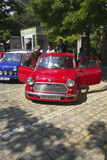 Oldtimer Show Skopje 2016. SKOPJE MACEDONIA - MAY 07 2016: Old Mini on 11th Old Timer Car Show, May 07, 2016 in Skopje. The event organized by Euroimpex from Stock Image