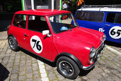 Oldtimer Show Skopje 2016. SKOPJE MACEDONIA - MAY 07 2016: Old Mini on 11th Old Timer Car Show, May 07, 2016 in Skopje. The event organized by Euroimpex from Royalty Free Stock Photo