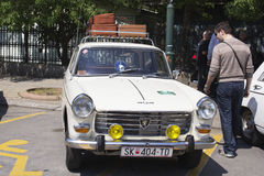 Oldtimer Show Skopje 2016. SKOPJE MACEDONIA - MAY 07 2016: Old Peugeot on 11th Old Timer Car Show, May 07, 2016 in Skopje. The event organized by Euroimpex from Stock Images