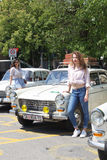 Oldtimer Show Skopje 2016. SKOPJE MACEDONIA - MAY 07 2016: Old Peugeot on 11th Old Timer Car Show, May 07, 2016 in Skopje. The event organized by Euroimpex from Royalty Free Stock Images