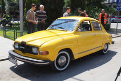 Oldtimer Show Skopje 2016. SKOPJE MACEDONIA - MAY 07 2016: Old SAAB on 11th Old Timer Car Show, May 07, 2016 in Skopje. The event organized by Euroimpex from Stock Photography