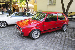 Oldtimer Show Skopje 2016. SKOPJE MACEDONIA - MAY 07 2016: Old Volkswagen on 11th Old Timer Car Show, May 07, 2016 in Skopje. The event organized by Euroimpex Stock Images