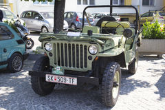 Oldtimer Show Skopje 2016. SKOPJE MACEDONIA - MAY 07 2016: Old Willys on 11th Old Timer Car Show, May 07, 2016 in Skopje. The event organized by Euroimpex from Stock Photos