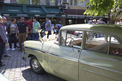 Oldtimer Show Skopje 2016. SKOPJE MACEDONIA - MAY 07 2016: Oldtimers Classic Cars and Motorcycles presented on 11th Old Timer Car Show, May 07, 2016 in Skopje Royalty Free Stock Photography