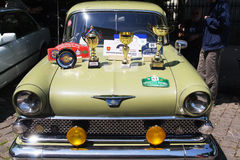 Oldtimer Show Skopje 2016. SKOPJE MACEDONIA - MAY 07 2016: Oldtimers Classic Cars and Motorcycles presented on 11th Old Timer Car Show, May 07, 2016 in Skopje Royalty Free Stock Photo