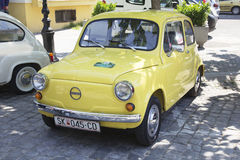 Oldtimer Show Skopje 2016. SKOPJE MACEDONIA - MAY 07 2016: Oldtimers Classic Cars and Motorcycles presented on 11th Old Timer Car Show, May 07, 2016 in Skopje Stock Photography