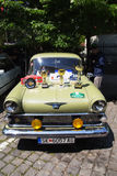 Oldtimer Show Skopje 2016. SKOPJE MACEDONIA - MAY 07 2016: Oldtimers Classic Cars and Motorcycles presented on 11th Old Timer Car Show, May 07, 2016 in Skopje Stock Photos