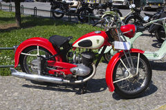 Oldtimer Show Skopje 2016. SKOPJE MACEDONIA - MAY 07 2016: Oldtimers Classic Cars and Motorcycles presented on 11th Old Timer Car Show, May 07, 2016 in Skopje Royalty Free Stock Photos