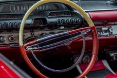 Oldtimer steering wheel Royalty Free Stock Photos