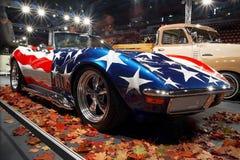 Oldtimer sull'esposizione di automobile Fotografia Stock Libera da Diritti