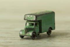 Oldtimer tin-speelgoed, zwaar vervoer Royalty-vrije Stock Foto