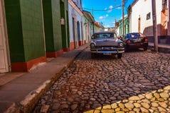 Oldtimer, Trinidad, Cuba Royalty Free Stock Photo