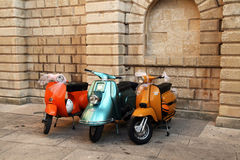 Oldtimer vespa Royalty Free Stock Photos