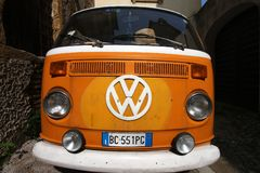 Oldtimer VW bus Royalty Free Stock Images