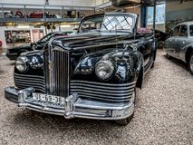 Oldtimer ZIS 110 B. PRAGUE, CZECH REPUBLIC - MARCH 8 2017: Oldtimer  ZIS 110 B, a copy of American Packard, National Technical Museum of Prague Stock Images
