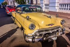 Oldtimers, Cienfuegos, Cuba Stock Photography