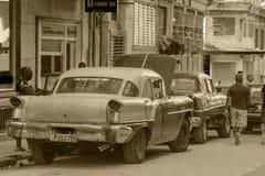 Oldtimers in Cuba Stock Afbeelding