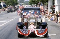 Oldtimers in 4 de Parade van Juli, Ojai, Californië Royalty-vrije Stock Afbeelding