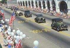 Oldtimers in 4 de Parade van Juli, Ojai, Californië Royalty-vrije Stock Foto