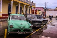 Oldtimers, Holguin, Cuba Stock Photo