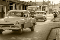 Oldtimers w Kuba zdjęcie royalty free