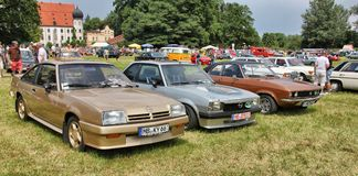 Oldtimershow in Baviera fotografia stock