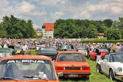 Oldtimershow em Baviera foto de stock
