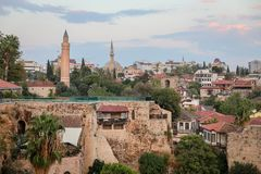 Oldtown Antalya, Τουρκία Στοκ εικόνες με δικαίωμα ελεύθερης χρήσης
