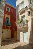 Oldtown de Beautyful balocny em Polignano uma cidade da égua, Sauthern Itália imagens de stock