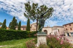 Oldtown Fano in Italia fotografie stock libere da diritti