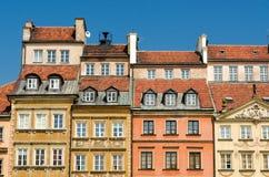 Oldtown i Warszawa Royaltyfri Foto