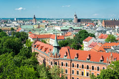 Oldtown of Krakow. View from the Wawel Stock Photo