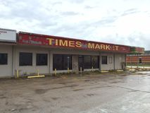 OldTown Market. Times Market small town USA Bishop Texas rundown abandoned Royalty Free Stock Photos