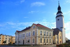 Oldtown in Mirsk Stockbilder