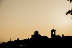 Oldtown-Skyline Stockfoto