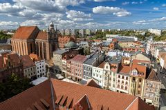 Oldtown of Torun in Poland royalty free stock images