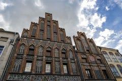 Oldtown of Torun in Poland stock photo