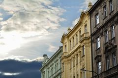 Oldtowngebouwen Stock Foto