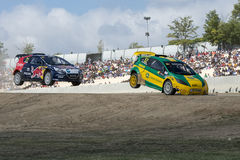 Ole-Christian VEIBY. Volkswagen Polo. Barcelona FIA World Rallycross Royalty Free Stock Image