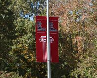 Ole Miss College Banner Royalty Free Stock Photography