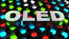 OLED (органический светоизлучающий диод) иллюстрация вектора