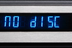 OLED display. Blue OLED display show no disk Royalty Free Stock Photography