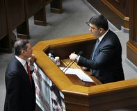 Oleg Lyashko και Volodymyr Groisman στοκ φωτογραφία με δικαίωμα ελεύθερης χρήσης